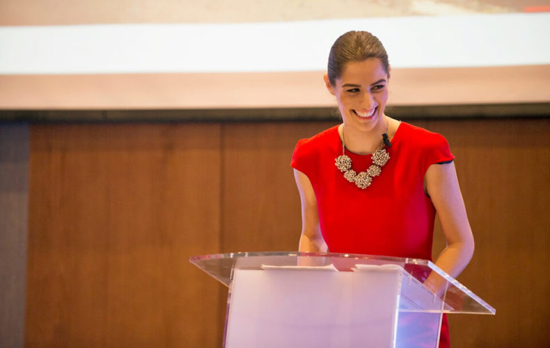 Andreea Zoia presents for Nissan Middle East